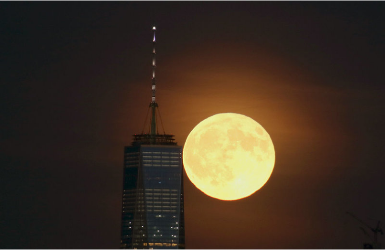NYC Hunter's Moon via NPR